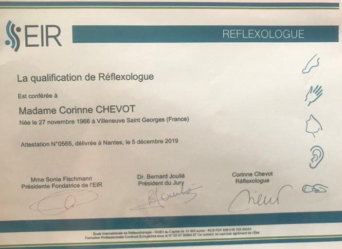 Certification en Réflexologie Combinée, EIR Nantes