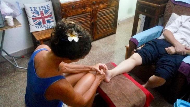 Corinne Chevot , pratique de la réflexologie